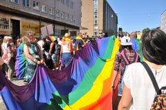 Bög Pride Parade 2013 i Stockholm Royaltyfria Foton