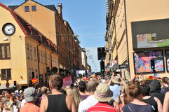 Bög Pride Parade 2013 i Stockholm Royaltyfri Bild