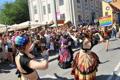 Bög Pride Parade 2013 i Stockholm Royaltyfri Foto