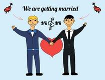 Bögar får att gifta sig Arkivfoto