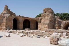Bögen an den Antonine Bädern - Karthago Stockfotos