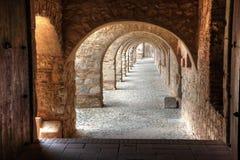 Bögen, Fortress de Salses Lizenzfreies Stockfoto