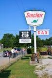 BögParita Sinclair bensinstation på Route 66 Arkivfoto