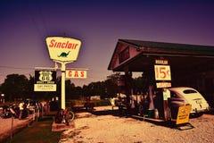 BögParita Sinclair bensinstation på Route 66 Royaltyfri Bild