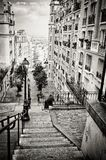 Böhme unten in der Straße, Paris Frankreich stockfoto