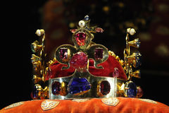 Böhmische Kronenjuwelen in Prag, Tschechische Republik Stockfotografie