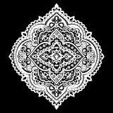 Böhmischer indischer Mandaladruck Weinlese-Hennastrauchtätowierungsart Lizenzfreie Stockbilder