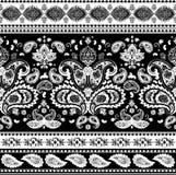 Böhmischer indischer Mandaladruck Weinlese-Hennastrauchtätowierungsart Lizenzfreies Stockfoto