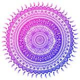 Böhmischer indischer Mandaladruck Weinlese-Hennastrauchtätowierungsart Lizenzfreies Stockbild