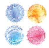 Böhmischer Mandala- und Yogahintergrund mit rundem Lizenzfreies Stockbild