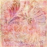 Böhmischer rosafarbener Blumenzigeunerhintergrund Stockfotografie