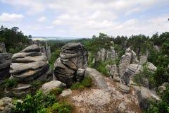 Böhmisches Paradies (Prachovske skaly) stockfotos