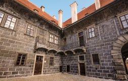 Böhmisches Schloss - Cesky Krumlov lizenzfreie stockbilder