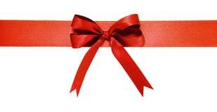 böj det röda bandet Isolerat på vitbakgrunden Royaltyfri Fotografi