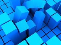 böjd blockstruktur arkivbilder
