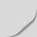 böjda skuggor för papper för hörnkrullningssida realistiska sheet royaltyfri illustrationer