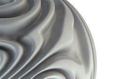 böjde abstrakt bakgrund för arkitektur 3d cell- latticern fyrkantig white Arkivbilder