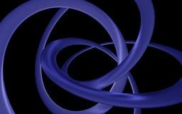 Böjde den glansiga spiralen Royaltyfri Foto