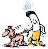 böjelsecigarett royaltyfri illustrationer