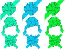 böjer den dekorativa setvektorn Fotografering för Bildbyråer