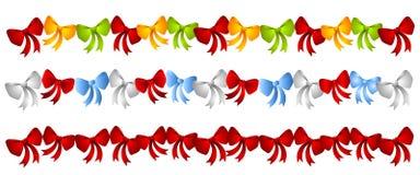 böjer färgrika rader för jul Royaltyfri Fotografi