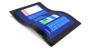 Böjlig generisk tablet Arkivbild