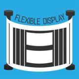 Böjlig stil för skärmsmartphonelägenhet Fotografering för Bildbyråer