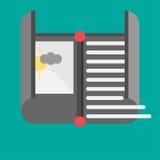 Böjlig symbol Böjlig skärm Elektroniskt papper Arkivbild