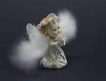 Bön Angel Figurine Arkivbild