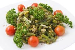 bönaägg stekte green Royaltyfri Bild