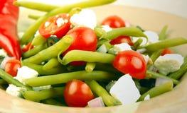böna dilled grön sallad arkivbild