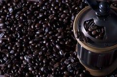 bönakaffegrinder Royaltyfri Fotografi