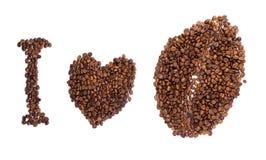 bönakaffeinskrift Royaltyfria Foton
