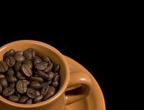 bönakaffekopp royaltyfri fotografi