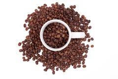bönakaffekopp Arkivbild