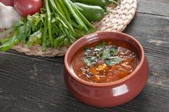 Bönasoppa och nya ingredienser för att laga mat Royaltyfria Foton