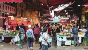 Bönder marknadsför i Kowloon arkivfilmer