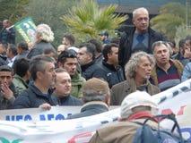 Bönders protest 4 Arkivbilder