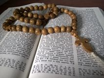 Bönen pryder med pärlor Arkivbild