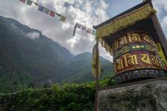 Bönen rullar in himalayasna Fotografering för Bildbyråer