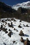 bönen stenar tibetant Fotografering för Bildbyråer