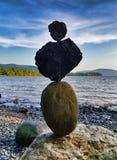 Bönen vaggar rest upp på kusten av Hudson River som ser s arkivbilder