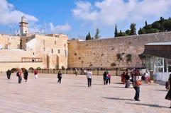 Jerusalem som att jämra sig väggen Arkivbild