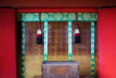 Bönfönster i relikskrin Japan Royaltyfria Foton