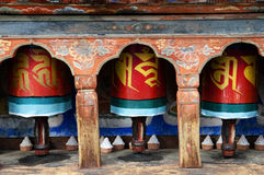 Bönhjul - Bhutan Arkivfoton