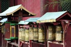 Bönhjul - Mongoliet arkivfoton