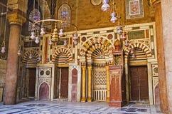 Bönkorridoren av Al-Nasir Muhammad Mosque Arkivbild