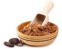 Bönor för kakaopulver och kakao Royaltyfria Foton