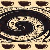 bönor frukosterar ideal isolerad makro för kaffe över white royaltyfri illustrationer