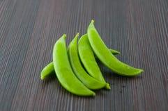Bönor haricot vert, ärtor, morot, lagade mat haricot vert, radbönor, sparris, snittharicot vert, havre, grönsaker, brocco Royaltyfri Foto